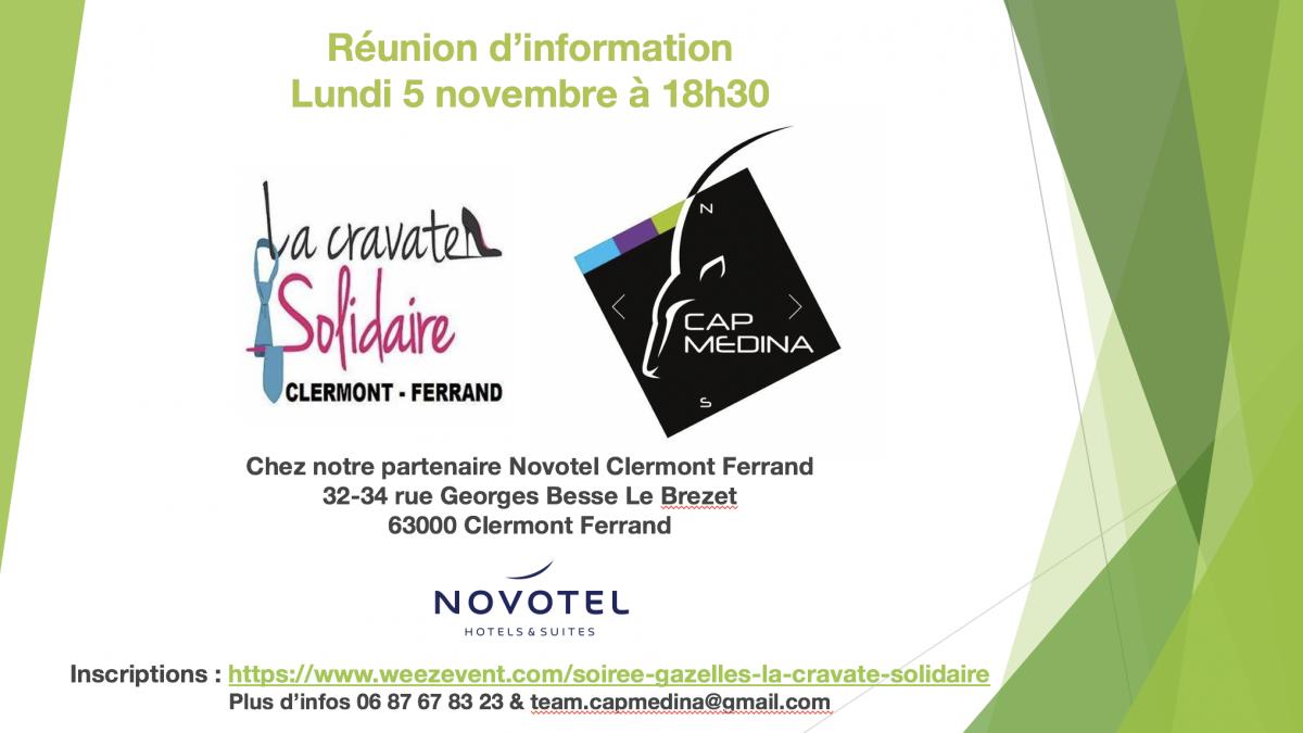 Invitation Gazelles : la cravatte Solidaire