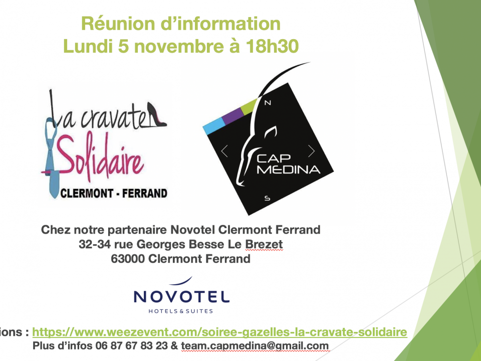 Invitation Gazelles : la cravatte Solidaire