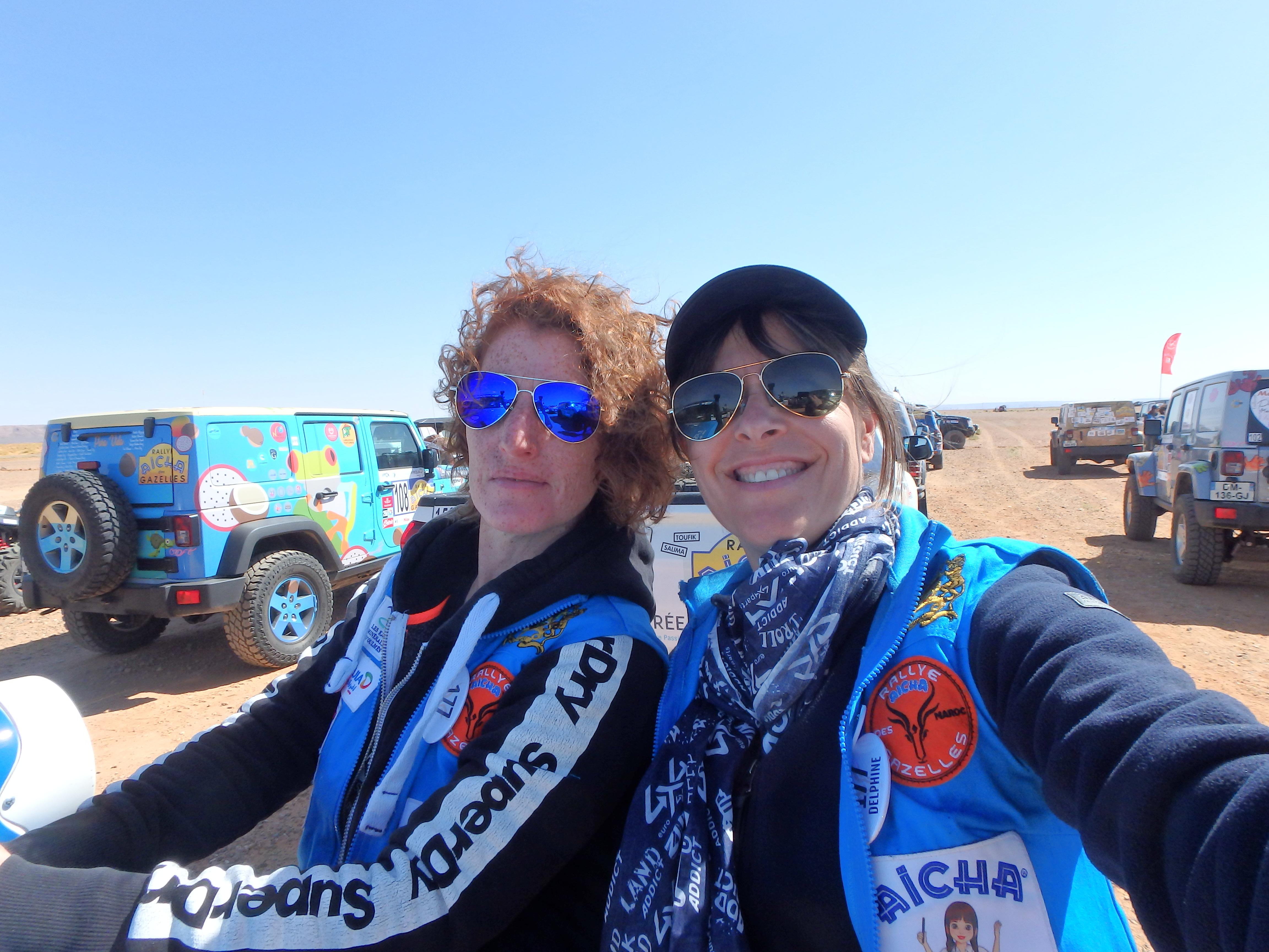 Rallye des Gazelles cap medina - team au départ