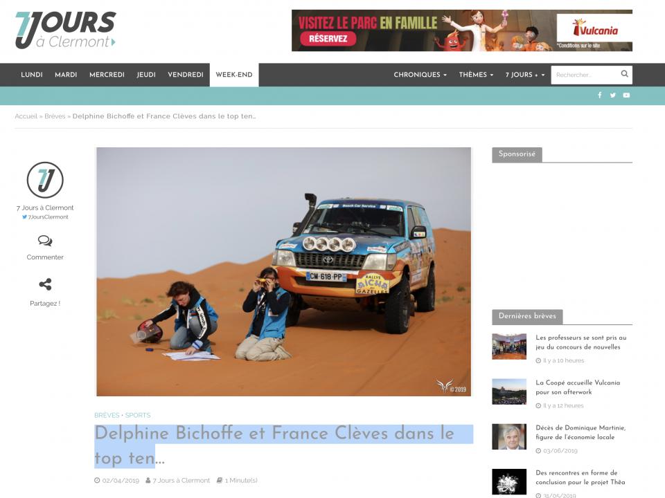 Delphine Bichoffe et France Clèves dans le top ten