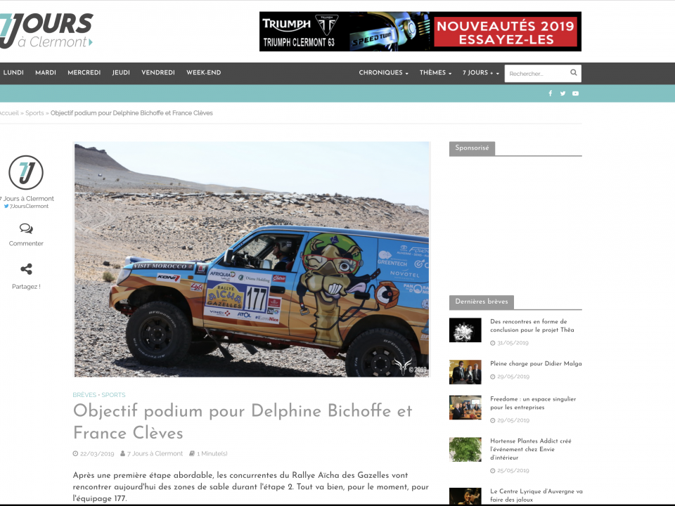 Objectif podium pour Delphine Bichoffe et France Clèves