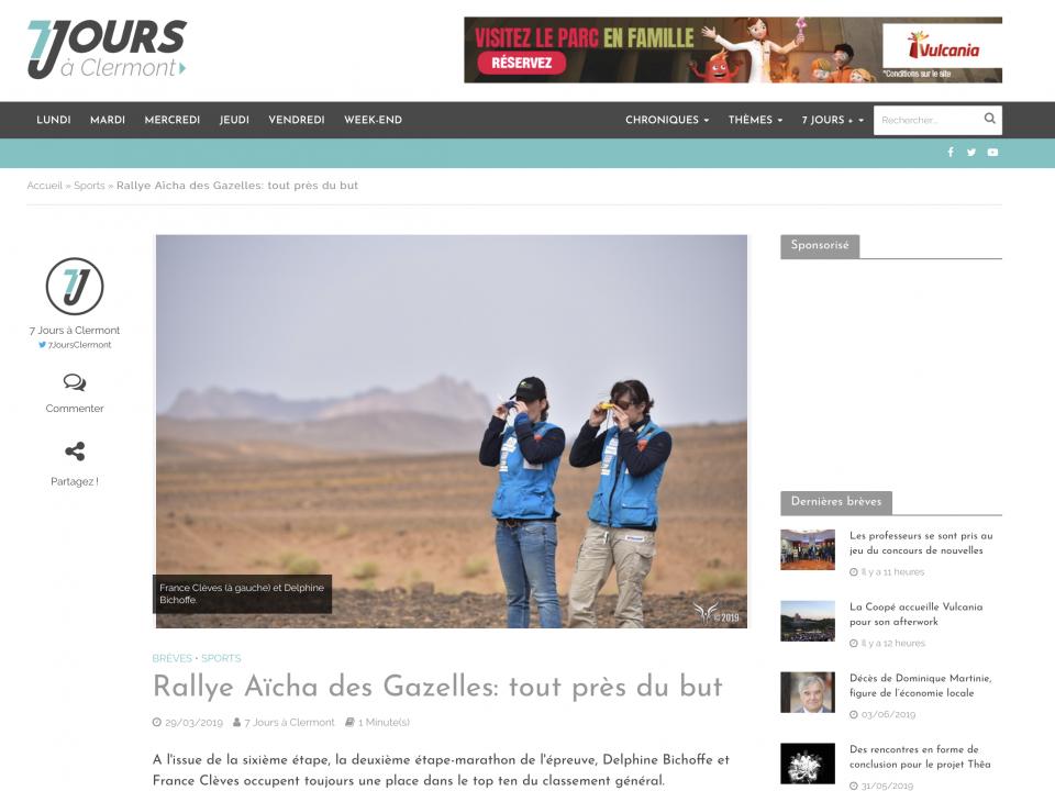 Rallye Aïcha des Gazelles tout près du but