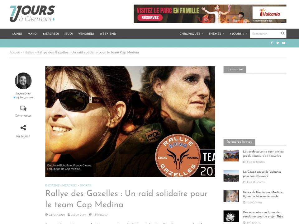 Rallye des Gazelles Un raid solidaire pour le team Cap Medina
